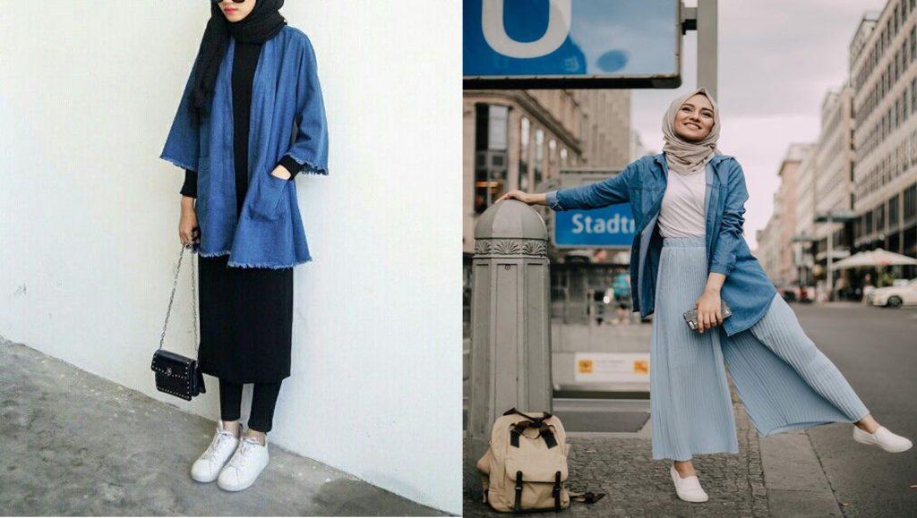 62 Koleksi Model Style Hijab Dengan Jaket Jeans Terbaru